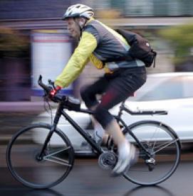 لیزر در دوچرخه سواران